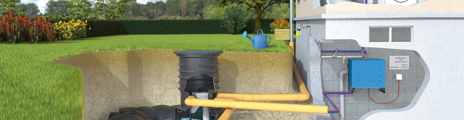 kleiner befahrbarer regenwasser flachtank